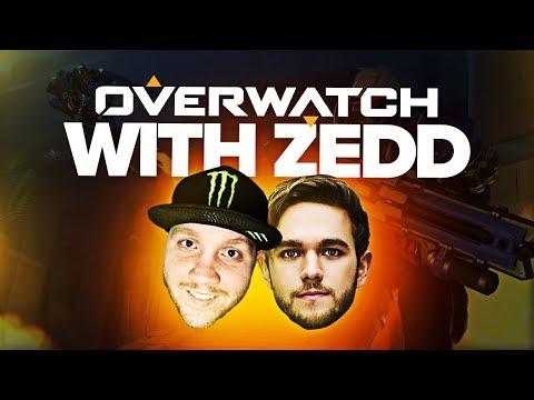 OVERWATCH GAMES WITH ZEDD!! | Overwatch Highlights w/ TimTheTatMan