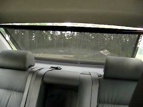 Bmw e34 electric sun blind rear window youtube for Motorized blinds not working