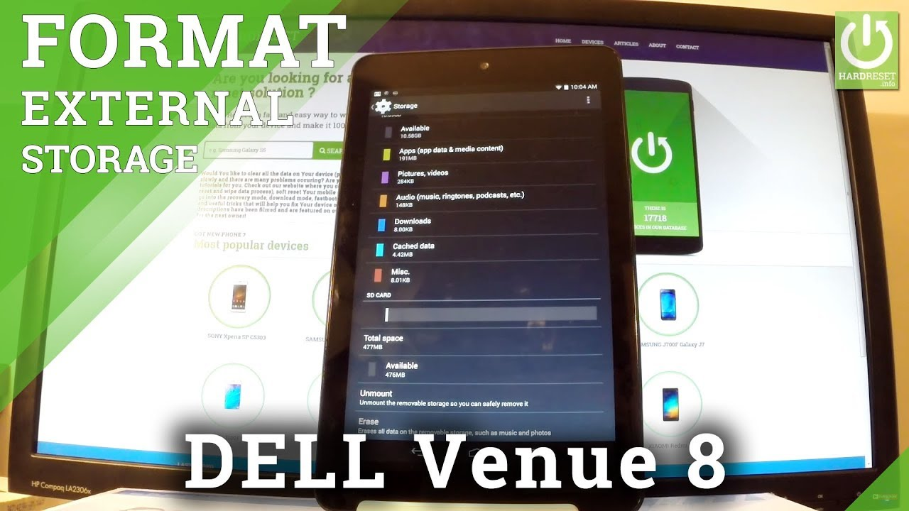 How to Format SD Card in DELL Venue 8 - Clear External Storage