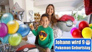Johanns 9. Geburtstag 🎂 Pokemon Party! Pokeball Torte machen | Kindergeburtstag VLOG | Mamiseelen