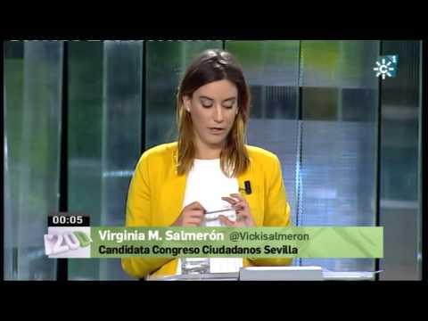 Virginia Salmerón en el debate de Canal Sur Sevilla #20D
