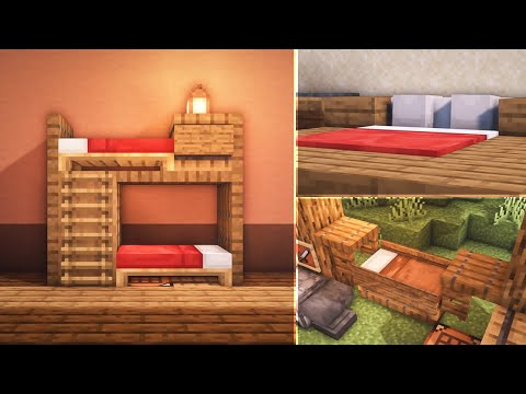 minecraft:-8-bed-build-hacks-and-ideas