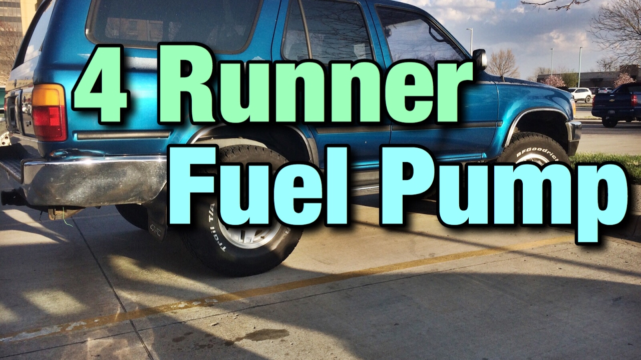 1993 Toyota 4 Runner Fuel Pump Replacement  YouTube