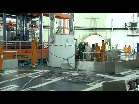 Transport van gebruikte brandstof uit de kerncentrale Borssele