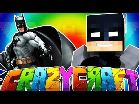 BATMAN SUPER HERO ARMOR - MINECRAFT'S OLDEST MOD PACK CRAZY CRAFT SURVIVAL #22