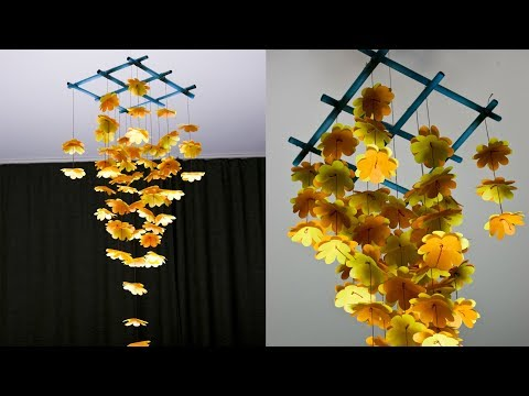 How to make wind chimes out of paper | DIY Home decoration ideas | Paper flowers