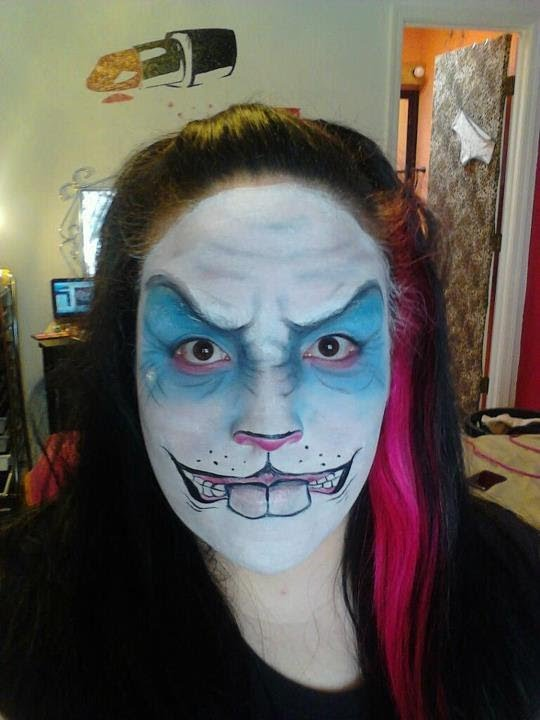 Halloween Makeup: Scary Bunny Rabbit - YouTube