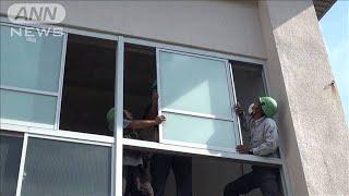 教室の窓ガラス約180枚補修へ 伊豆大島の台風被害(19/09/27)