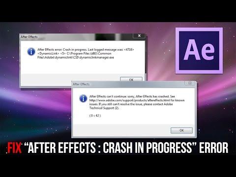 After Effects Crash In Progress ERROR FIX !!!!