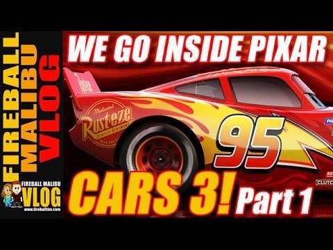 CARS 3 FROM INSIDE DISNEY PIXAR - PART 1! - FIREBALL MALIBU VLOG 604