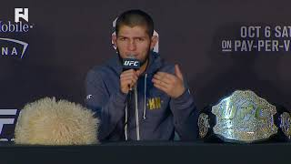 UFC 229: Khabib Nurmagomedov on Attacking McGregor's Team - You Can't Disrespect Religion, Nation