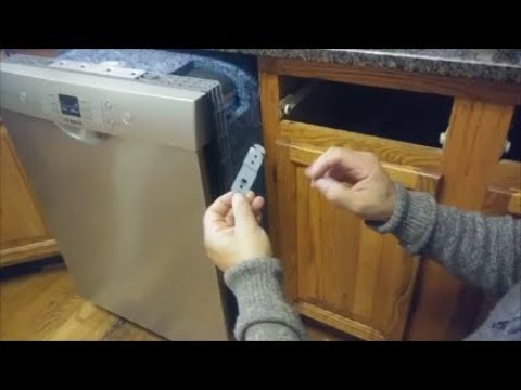 How To Mount A Bosch Dishwasher Under Granite Counter Top Step
