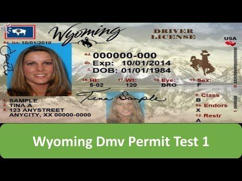 Wyoming DMV Permit Test 1