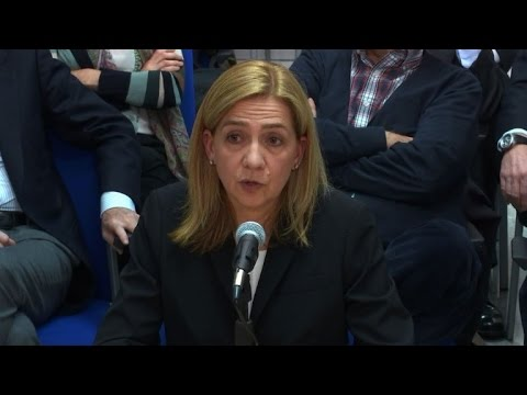 Spain's Princess Cristina takes stand at her tax evasion trial