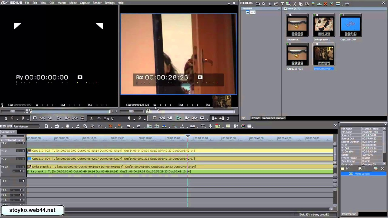 Edius 5 video tutorial multicam editing english voice over youtube ccuart