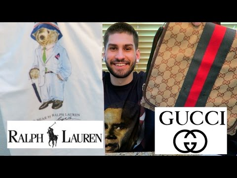 "FOUND POLO RALPH LAUREN BEAR SHIRTS & ""RARE GUCCI""!!!"