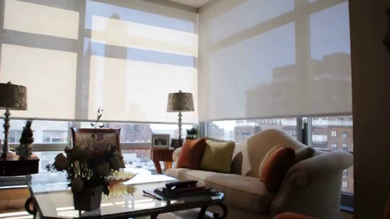 Motorized Solar Shades Nyc Installation Of Motorized
