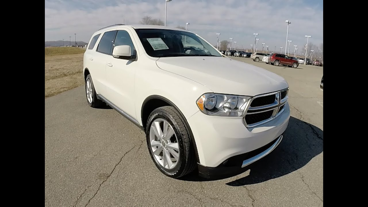 2012 dodge durango crew awd white all wheel drive navigation p10145 youtube. Black Bedroom Furniture Sets. Home Design Ideas