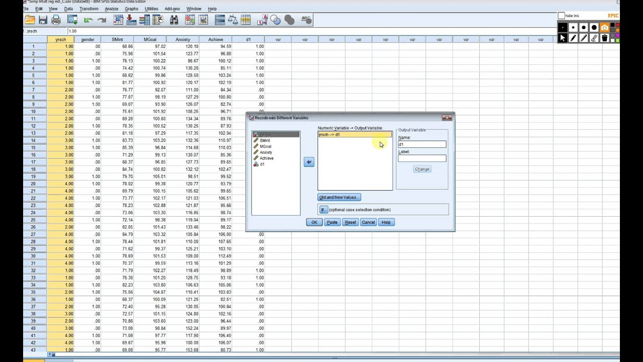 Multiple regression using dummy coding in spss1
