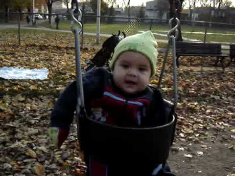 Zacharie Cloutier en el parque