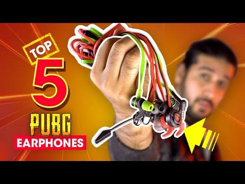 Top 5 Best Gaming Earphones For PUBG Mobile 🔥 2019