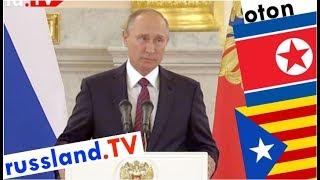 Putin zu Nordkorea, Donbass & Katalonien auf deutsch