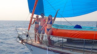 Day in the Life - 12 Hours of Spinnaker Bliss!  Sailing Vessel Delos Ep 328