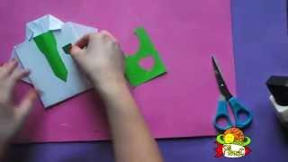 Cómo realizar una tarjeta en forma de camisa. Dia del padre