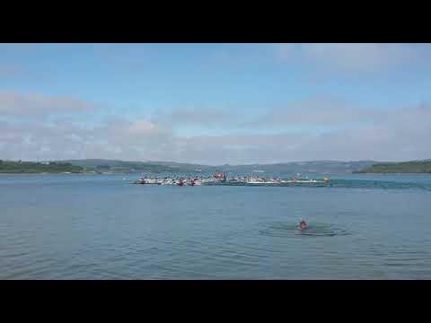 Las piraguas toman el lago de As Pontes