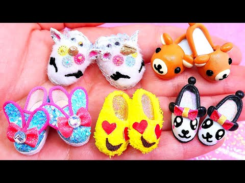 5 DIY Miniature Barbie Shoes, Sandals and Boots || Barbie Hacks and Crafts