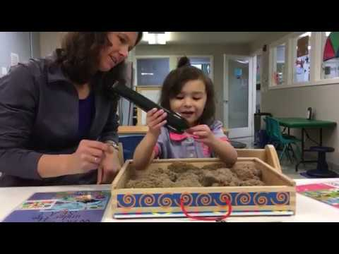 Pediatric Occupational Therapy sandbox exercise with Shelly Moore