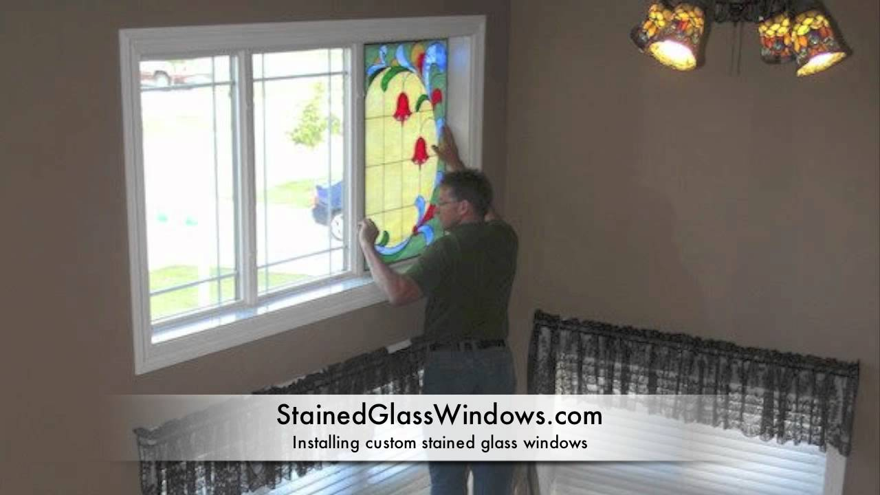 A Stained Glass Window Installation Youtube