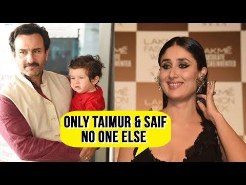 Kareena Kapoor INTERVIEW Talks About Taimur, Saif Ali Khan, Fashion