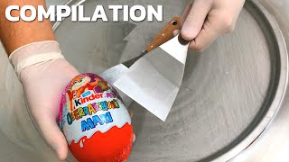 Surprise Eggs - Ice Cream Rolls (Compilation) | kinder Surprise Egg Opening | Satisfying Video ASMR