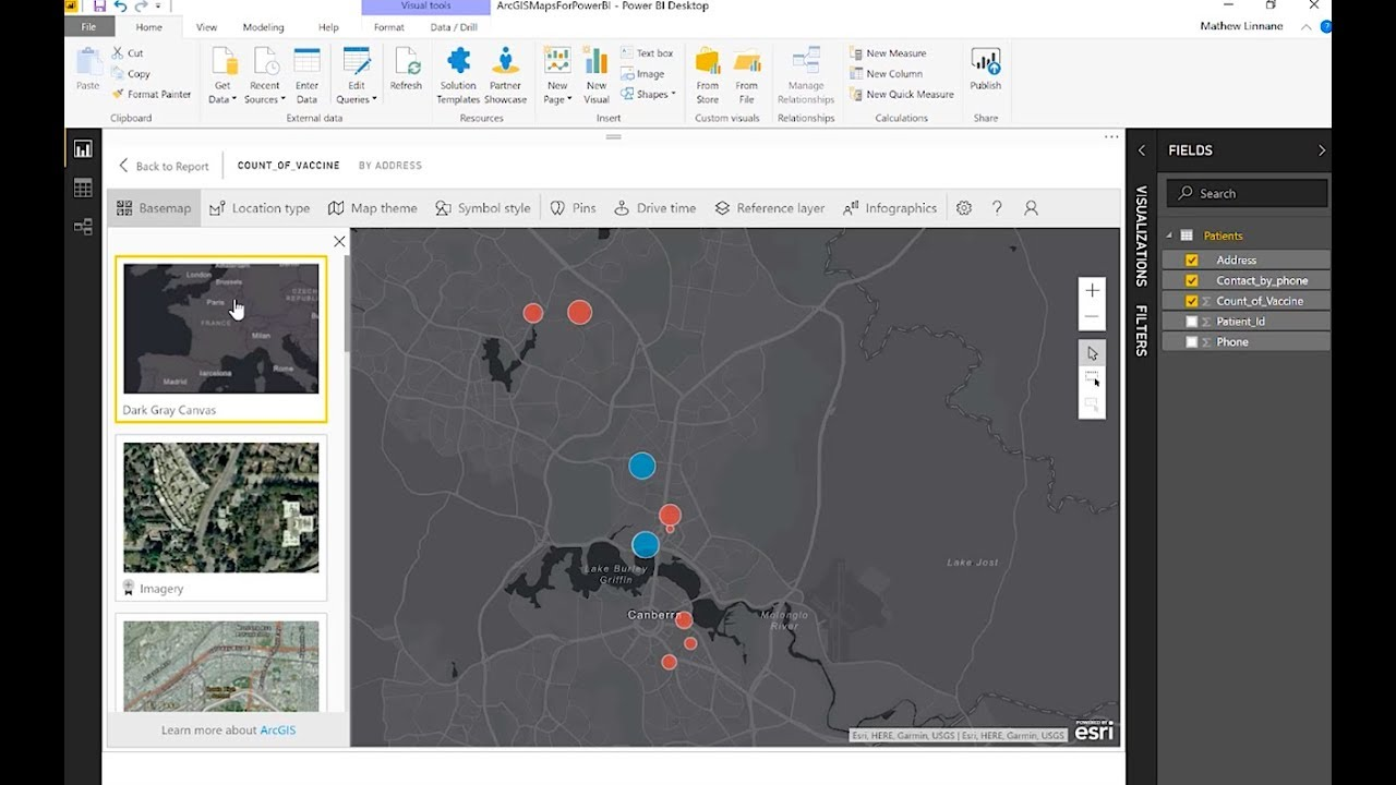 Service Delivery Analysis ArcGIS Maps for Power BI