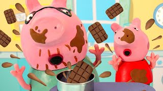 Download lagu Peppa Pig Official Channel | Peppa Pig Toys: Making a Chocolate Birthday Cake with Peppa Pig