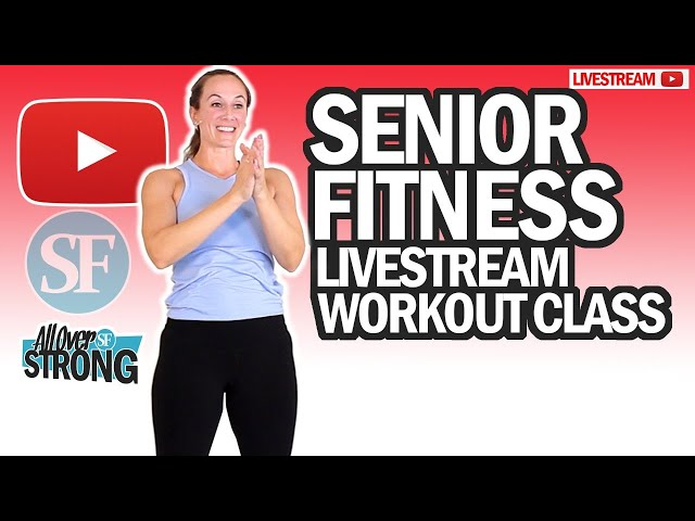 HIIT Workout At Home For Seniors (With Stretching Exercises) | Livestream Class