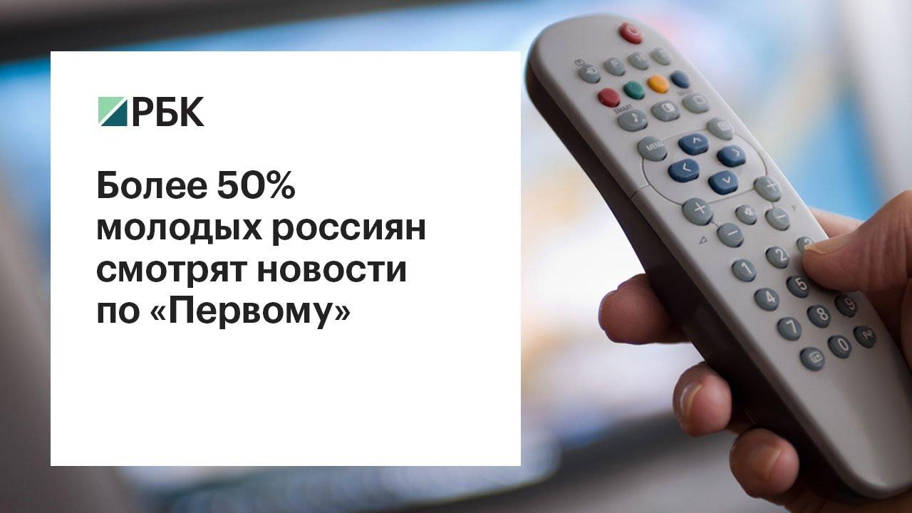 Более 50% молодых россиян смотрят новости по «Первому каналу»
