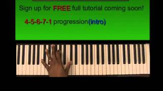 How to play My Testimony by marvin sapp- gospel piano tutorial