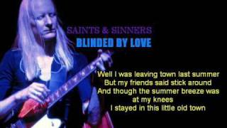 Johnny Winter - Blinded By Love with lyrics