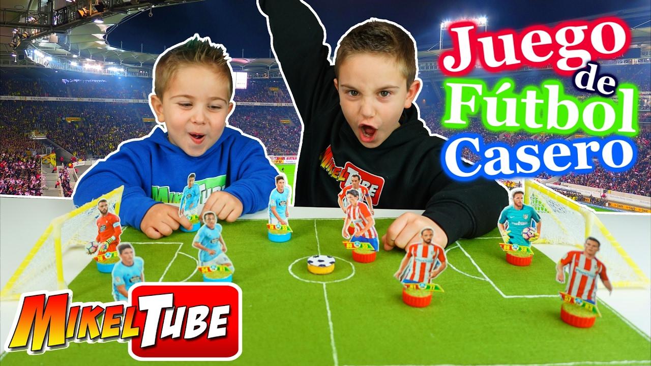 Juego de futbol casero manualidades divertidas youtube for Juego de mesa de futbol
