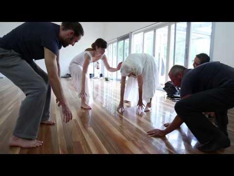 Eileen Kramer, Day 1 at Bundanon creating her dance work