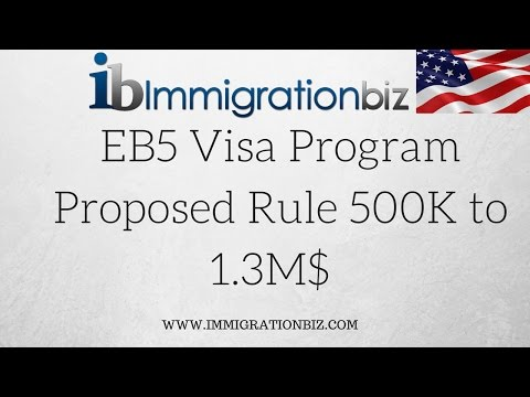 EB5 Visa Program Increase of Investment from 500K to 1.3M$ ⁉️