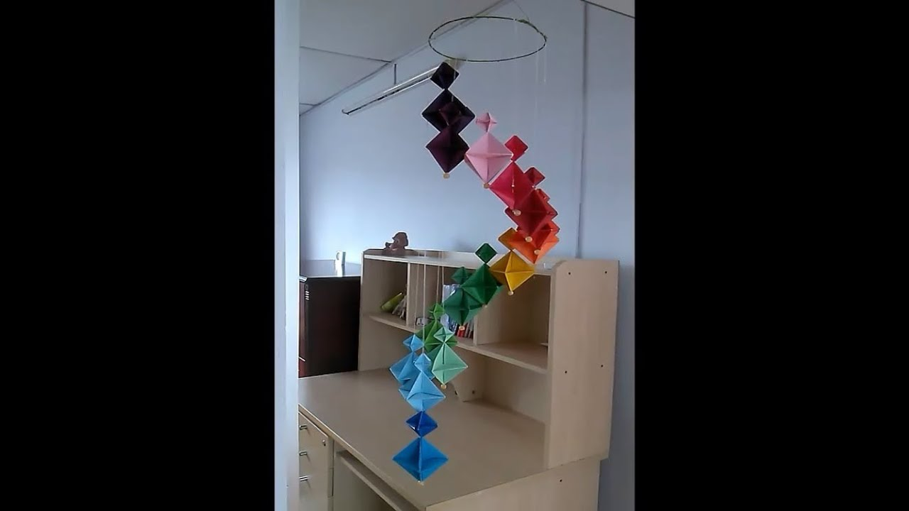 How to make A Colorful Wind Chime - DIY Home Decoration Ideas ...