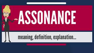 What is ASSONANCE? What does ASSONANCE mean? ASSONANCE meaning, definition & explanation