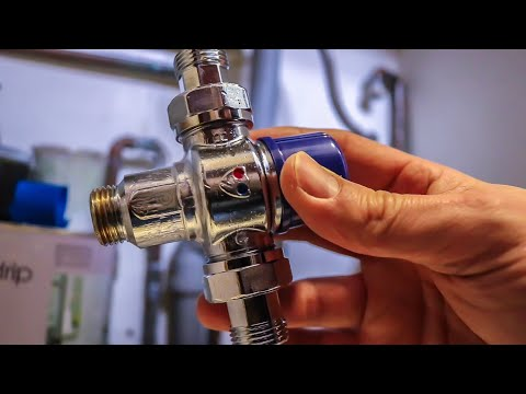 How to install a mixing valve