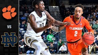Clemson vs. Notre Dame Basketball Highlights (2018-19)