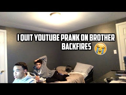 I QUIT  PRANK ON BROTHER😹 BACKFIRES