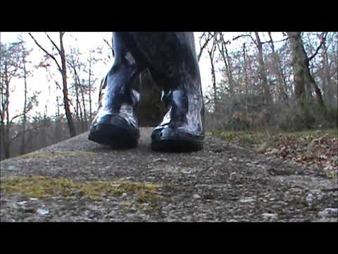 Black Girl Rubber Boots