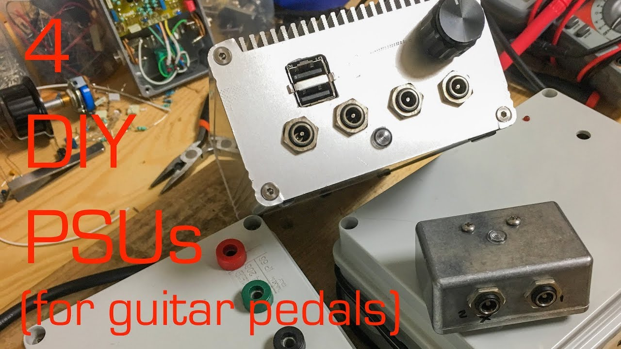 4 DIY Power Supply Units (for guitar pedals)